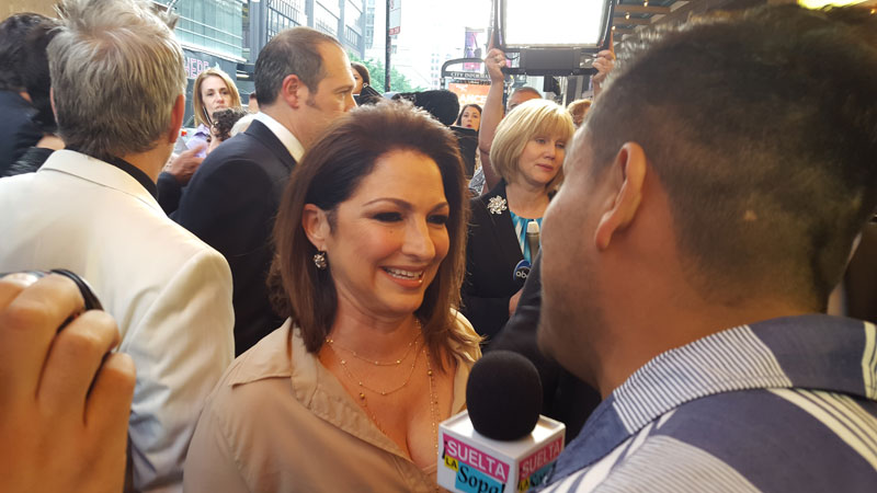 "Gloria Estefan on the red carpet for the World Premier of ""On Your Feet!"" Photo by Michelle Reidy"